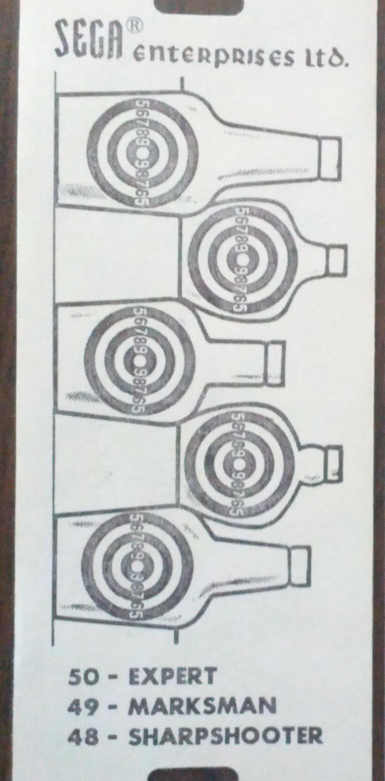 Sega Rifleman Target